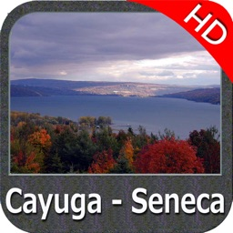 Cayuga - Seneca Lakes New York HD GPS fishing map