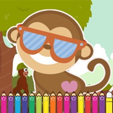 Activities of Monkey Coloring Game for Kids Third Edition