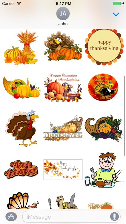 Thanksgiving Stickers ++