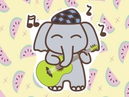 Animated Kid Elephant - Fx Sticker