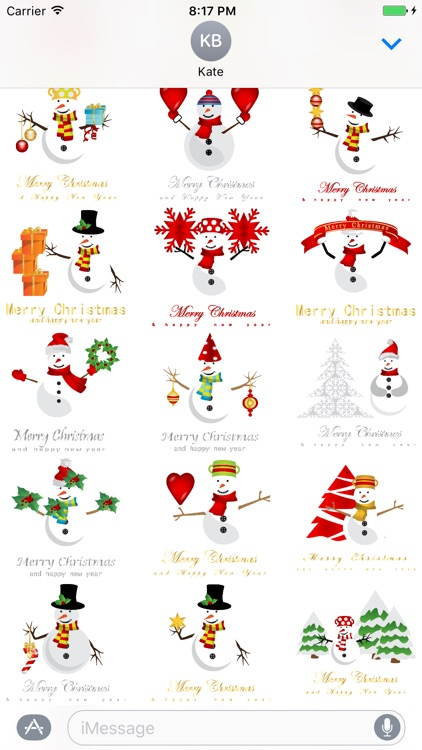 Christmas & NewYear 100 Stickers for iMessage