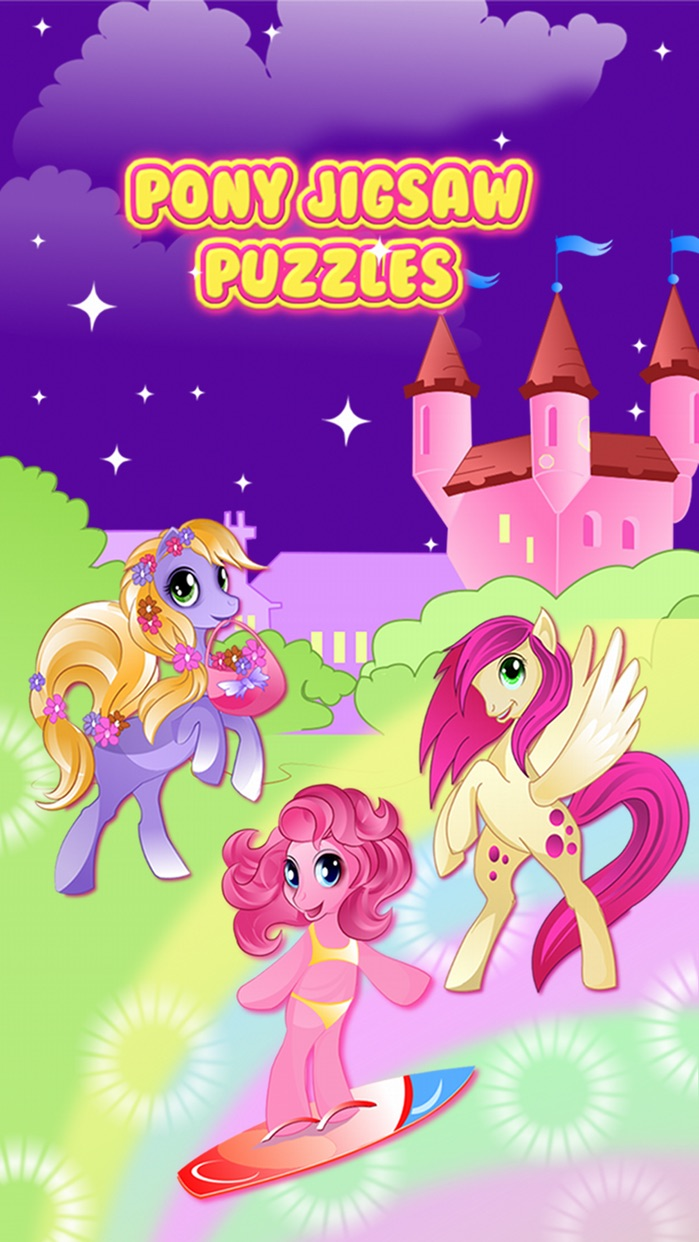 Pony Games for Girls My little Jigsaw Pony Puzzles Screenshot