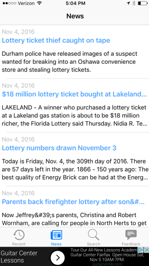 Illinois Lotto Results on the App Store