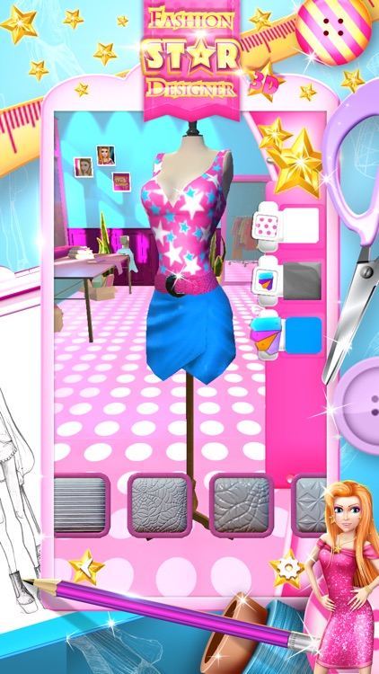 Fashion Star Designer 3D: Design and Make Clothes screenshot-3