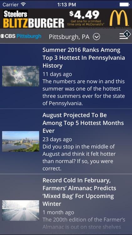 CBS Pittsburgh Weather screenshot-4