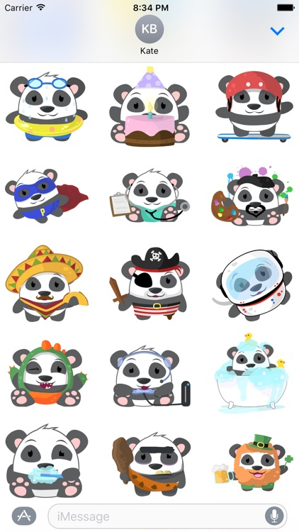 Oh Panda! Stickers screenshot-3