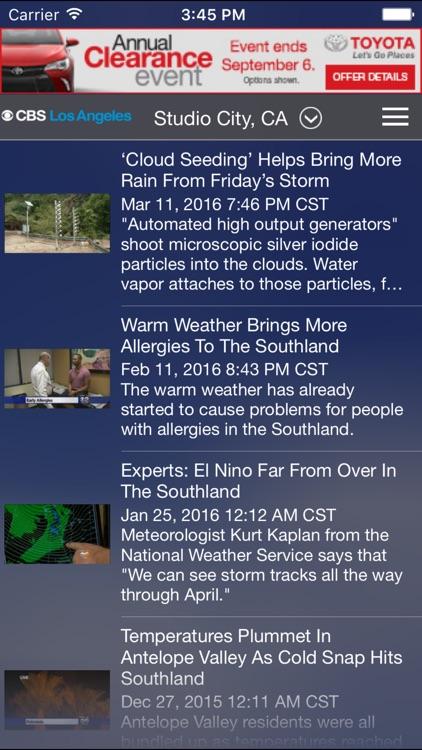 CBS LA Weather screenshot-4