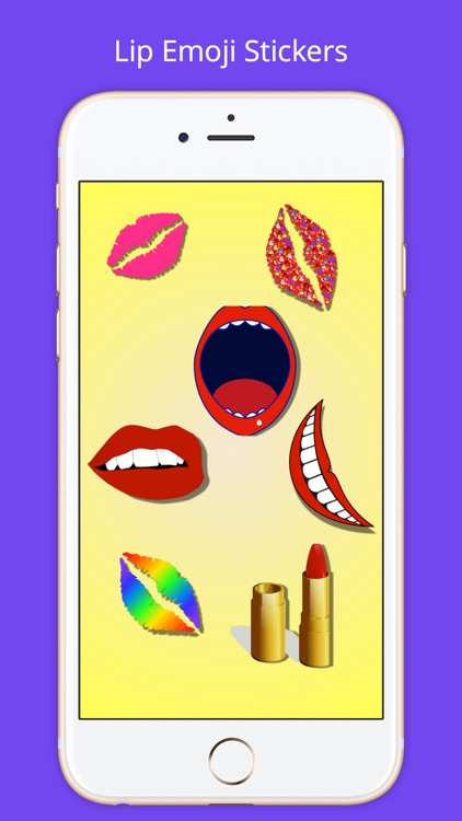 Lip Emoji Stickers
