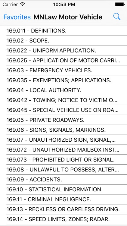 MNLaw -Motor Vehicle- Chapter 169/169A