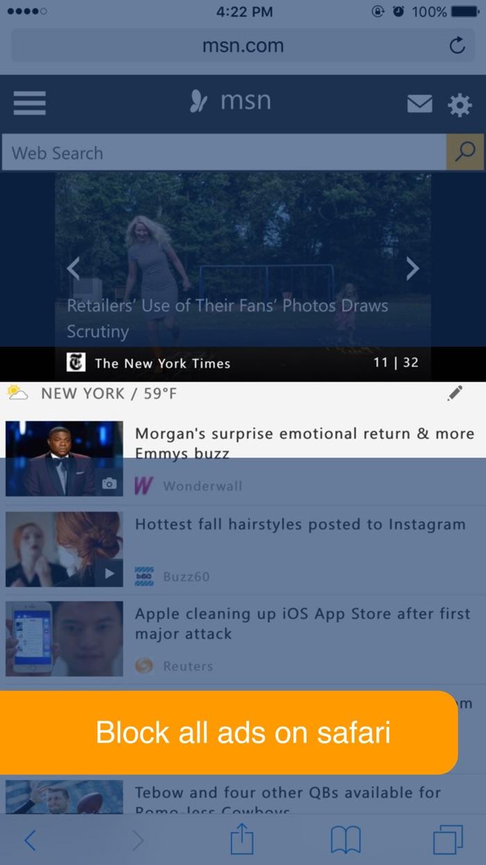 Block Ad by NeverAds | The Best Free Ad Blocker Screenshot