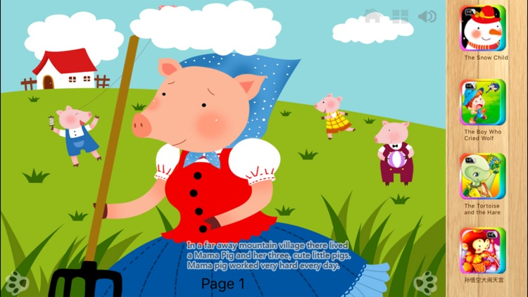 Three Little Pigs  Bedtime Fairy Tale iBigToy screenshot-4