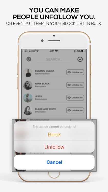UnfollowMe for Profile Audience Cleaner screenshot-1