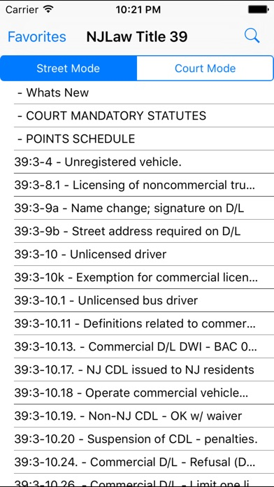 Screenshot for NJLaw - Title 39 - Motor Vehicle in United States App Store