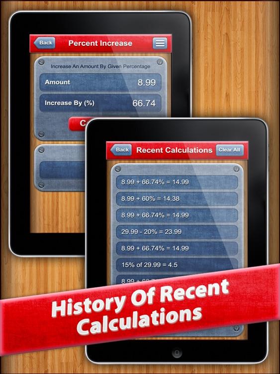7 in 1 : Percentage Calculator HD screenshot-3