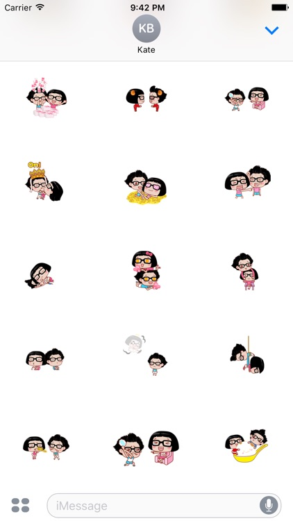 Couple Hana - I love you animated stickers pack screenshot-0