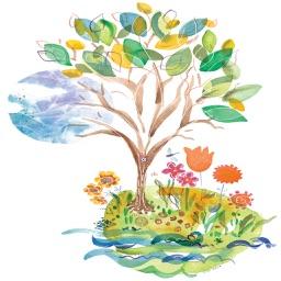 Happy Tu Bishvat Tu B'Shevat Day Stickers