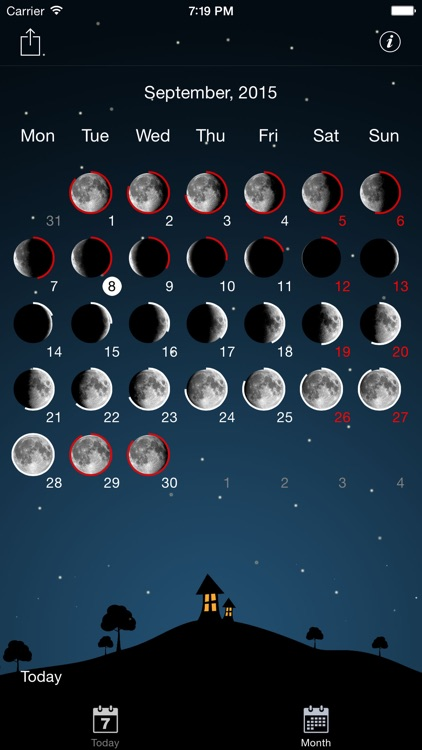 Moon phases calendar and night sky live pro screenshot-3