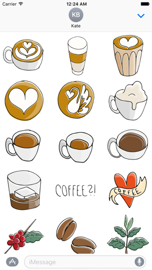 Just coffee stickers on the app store