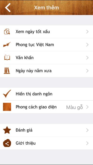 Lịch Vạn Niên (Âm Lịch) screenshot two