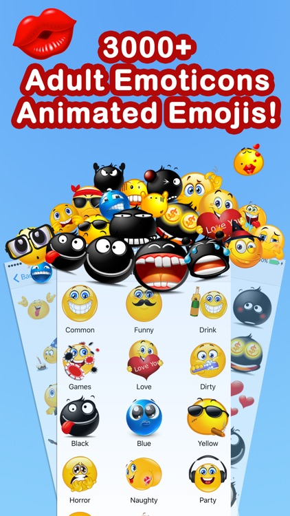 Emoticons Keyboard Pro - Adult Emoji for Texting screenshot-1