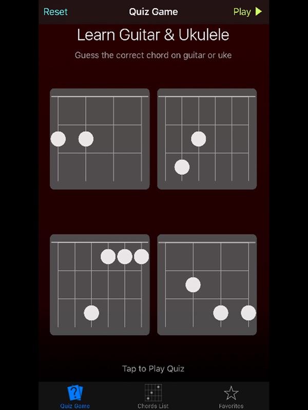 Uke Guitar Quiz Learn Ukulele Guitar Chords Online Game Hack