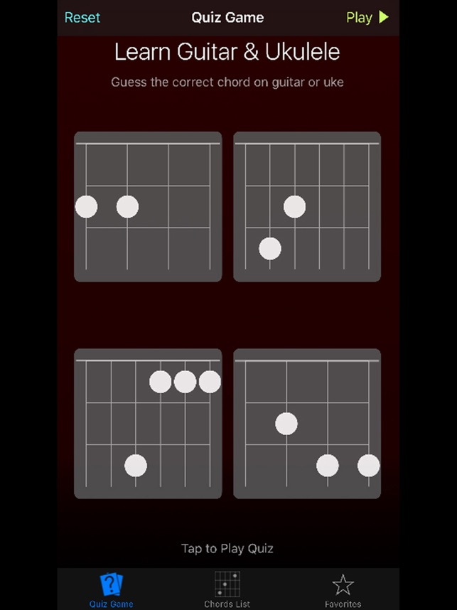 Uke Guitar Quiz Learn Ukulele Guitar Chords On The App Store