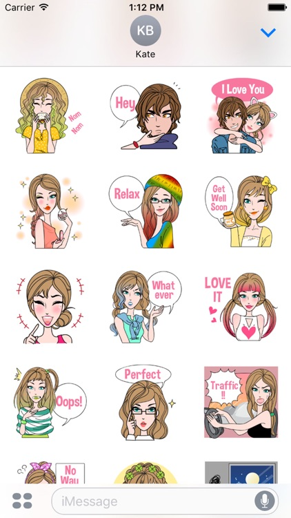 Sharon Vol.2 Stickers for iMessage by AMSTICKERS