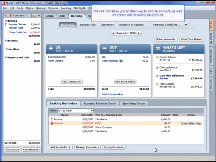 Video Training for Quicken Personal Finance screenshot-0