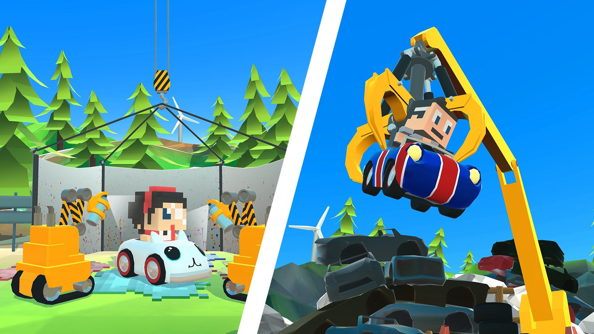 Blocky Racer - Endless Arcade Racing screenshot 14