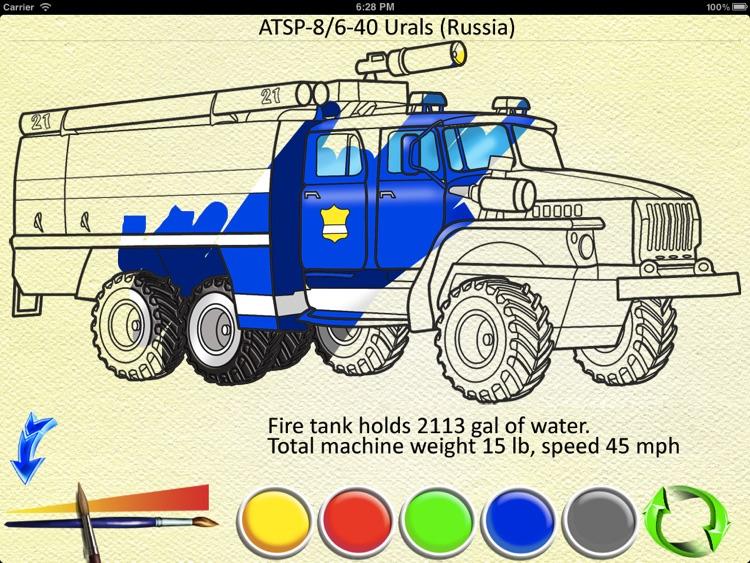 Fire Trucks - Coloring Book screenshot-3