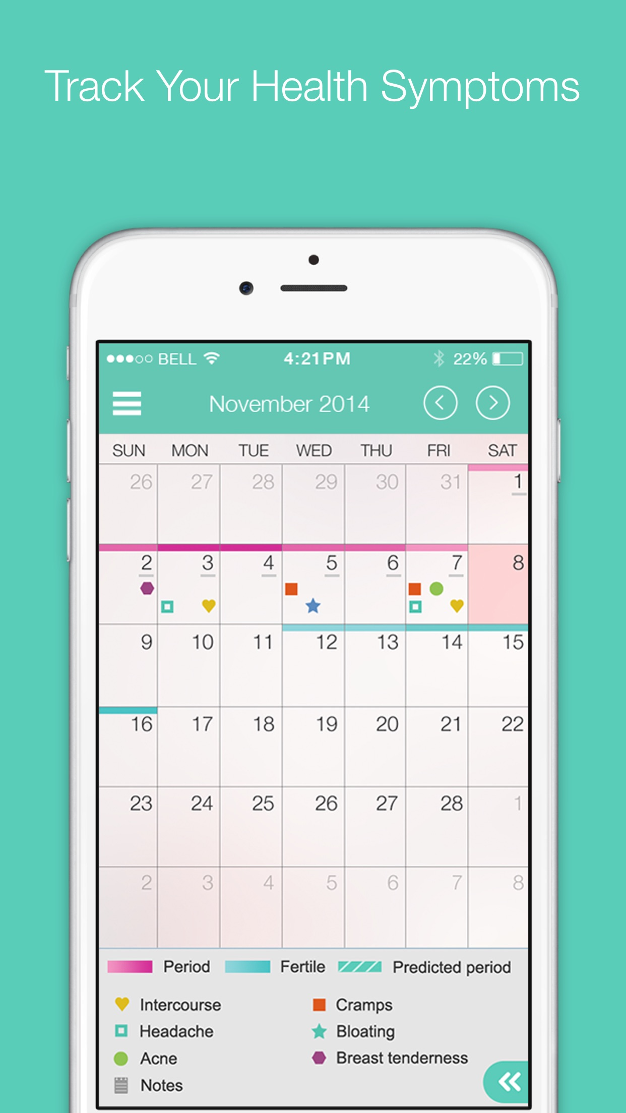 My Cycles Period and Ovulation Tracker Screenshot