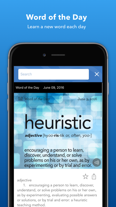 Screenshots of Dictionary.com Dictionary & Thesaurus for iPhone