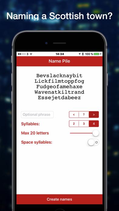 Name Pile Word Generator screenshot three