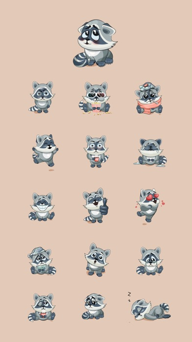 Raccoon StickersScreenshot von 2