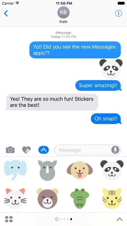 Flat Animals Sticker Pack