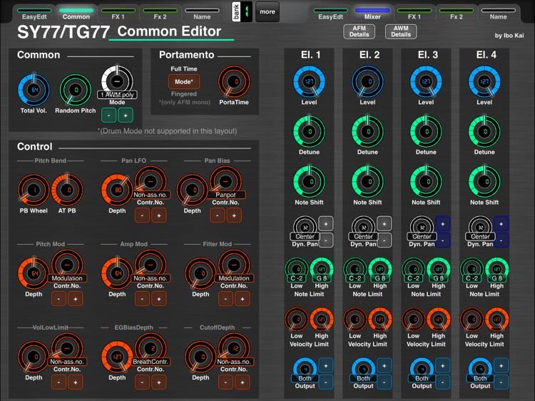 MD77: Yamaha SY77/TG77 Editor