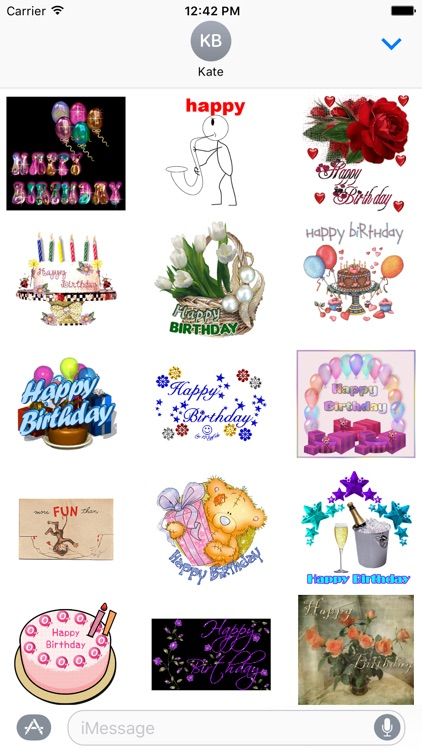 Birthday Animated Stickers for iMessage