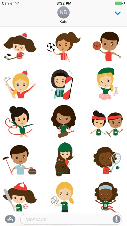 Sporty Kids Sticker Set