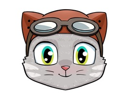 This cat's got some serious pilot charisma packed in that fancy flight suit of his