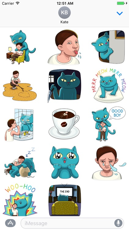 Cat With Life Stickers