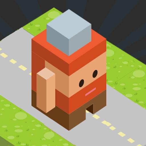 Blocky Road Runner Icon