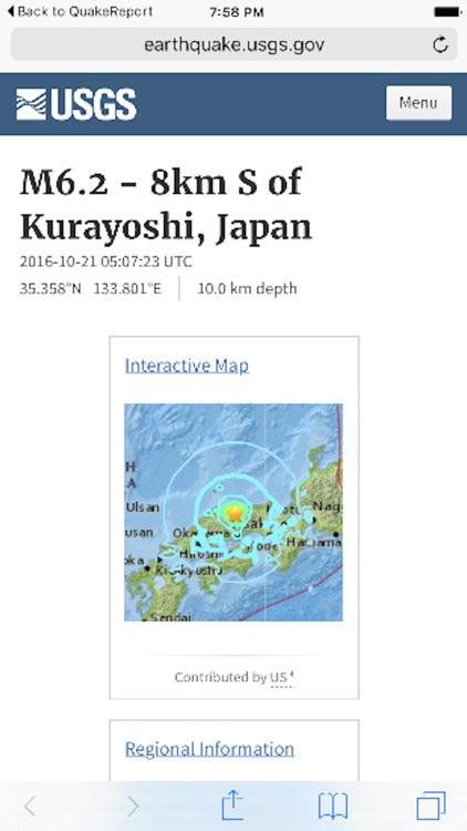 Earthquake Report screenshot-3