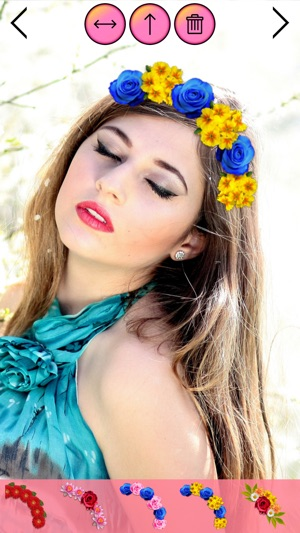Flower Crown Beauty Photo Editor Wedding Hairstyle On The App Store