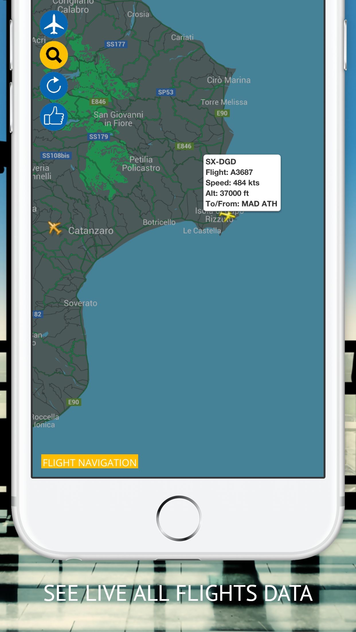 Flight Navigation Screenshot