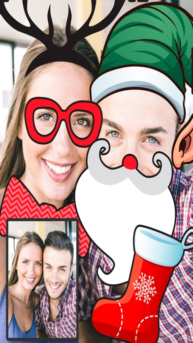 Navidad Snap filtros  – fotoeditor caras navideñasCaptura de pantalla de2
