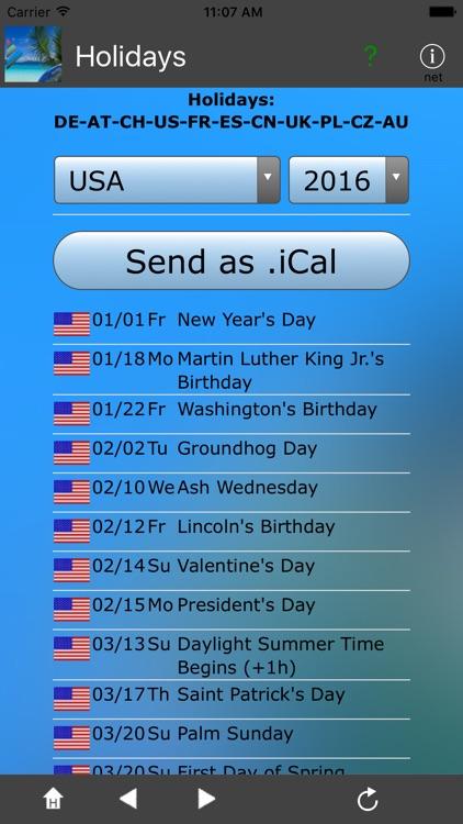 Feiertage + iCal