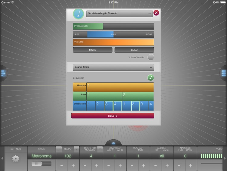 Metronomics HD Metronome screenshot-1