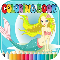 Mermaid Animal Coloring Book - for Kids