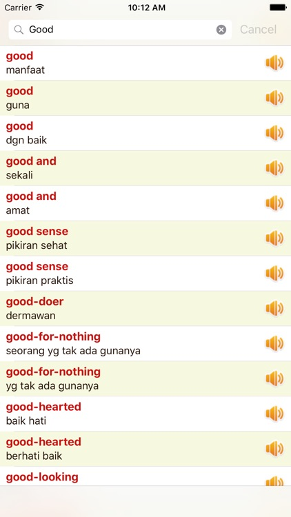 English Indonesian Dictionary Offline Free screenshot-4