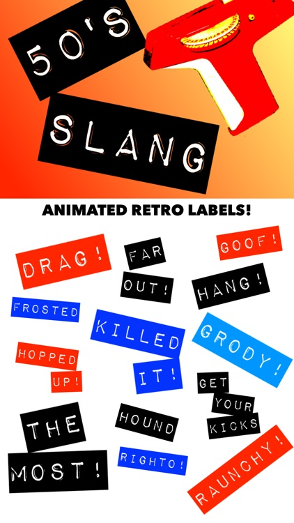 50's Slang: Retro Labeler